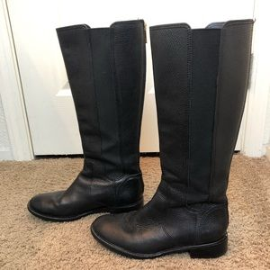 TORY BURCH Black Christy Riding Boots
